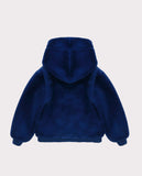 Faux Fur Jacket Royal Blue Back