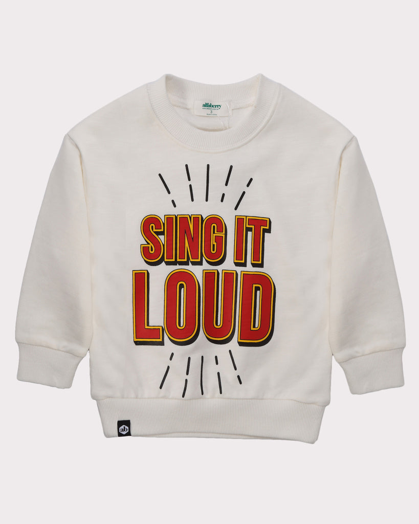 Sing It Out Loud Jumper white front
