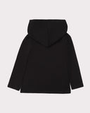 Long Sleeve Layering Hoodie Black Back
