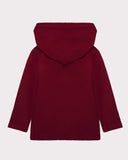 Long Sleeve Hoodie Red Plum Back