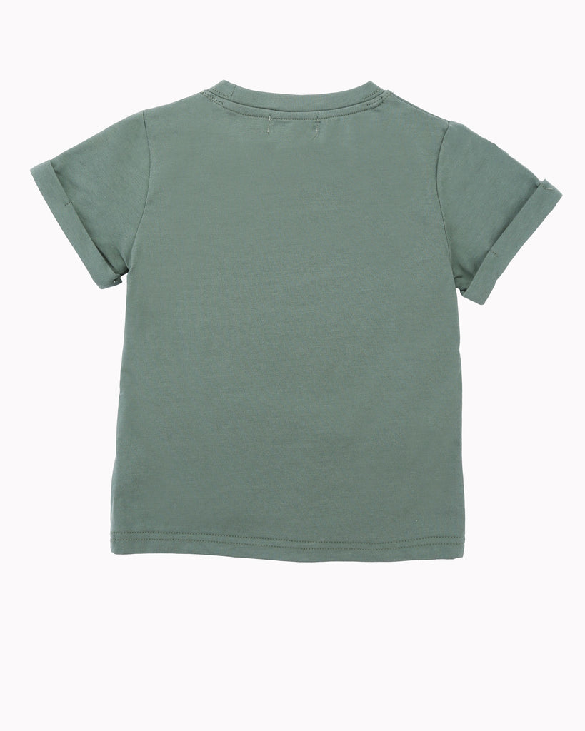 Dirt Tee in Army Green Back