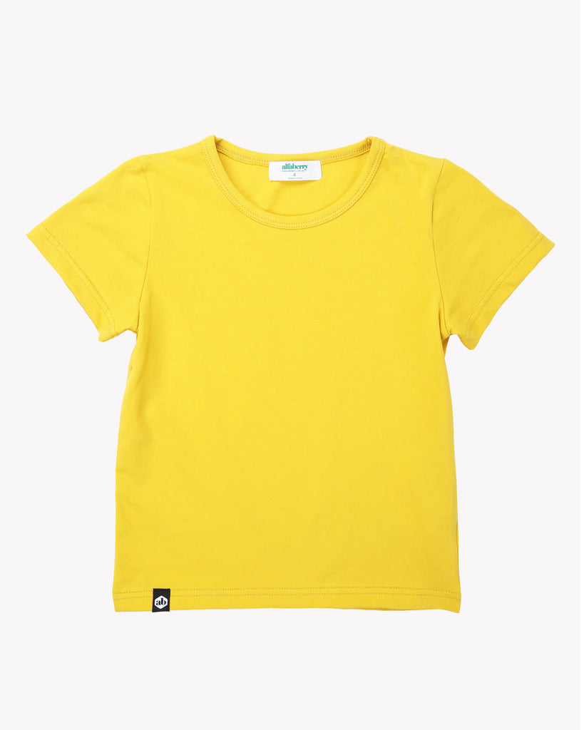 Forever Tee In Mustard Front