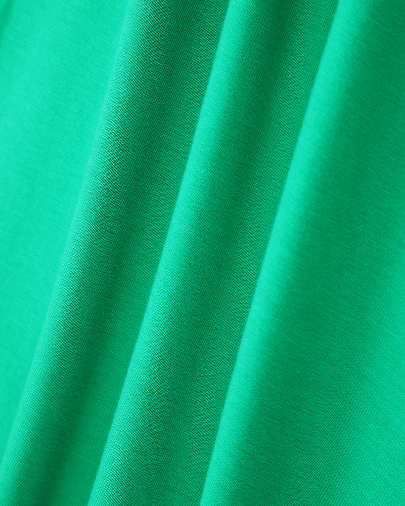 Pleated Sleeve Dress In Emerald Detail