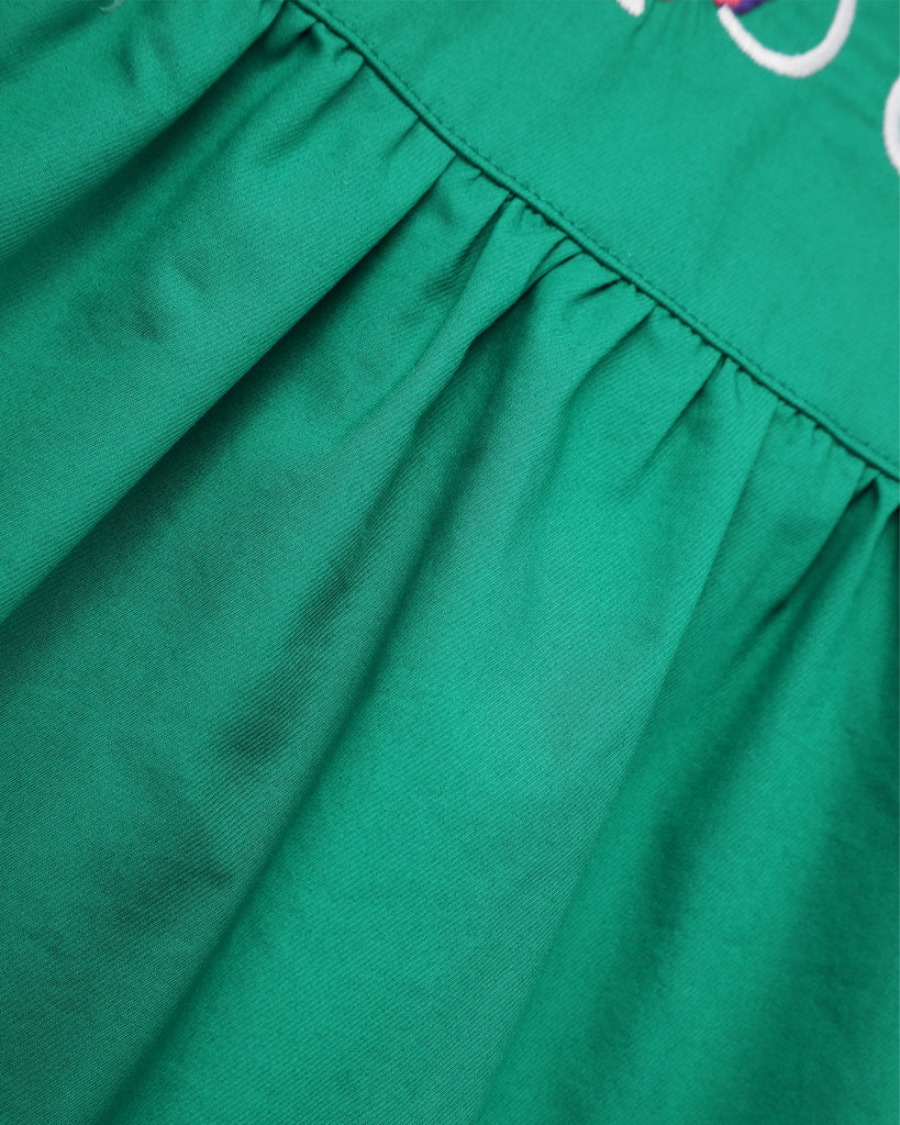 Sasha Embroidery Dress In Emerald Detail