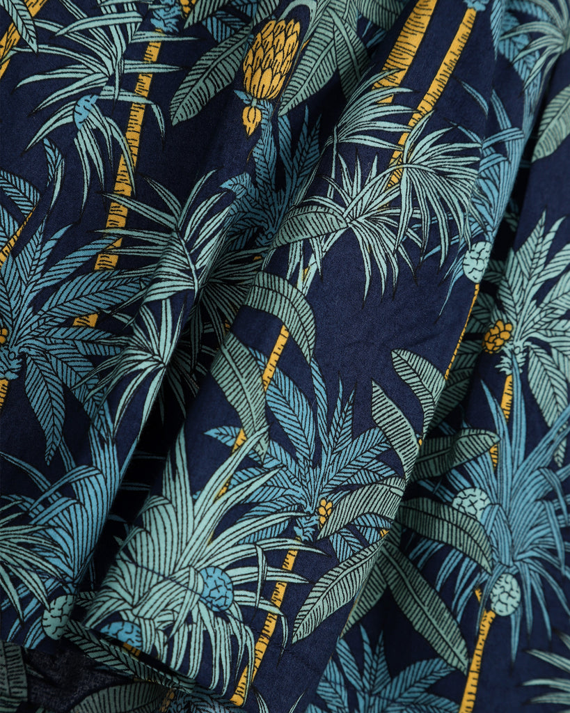 Into the Jungle Skirt In Navy Detail