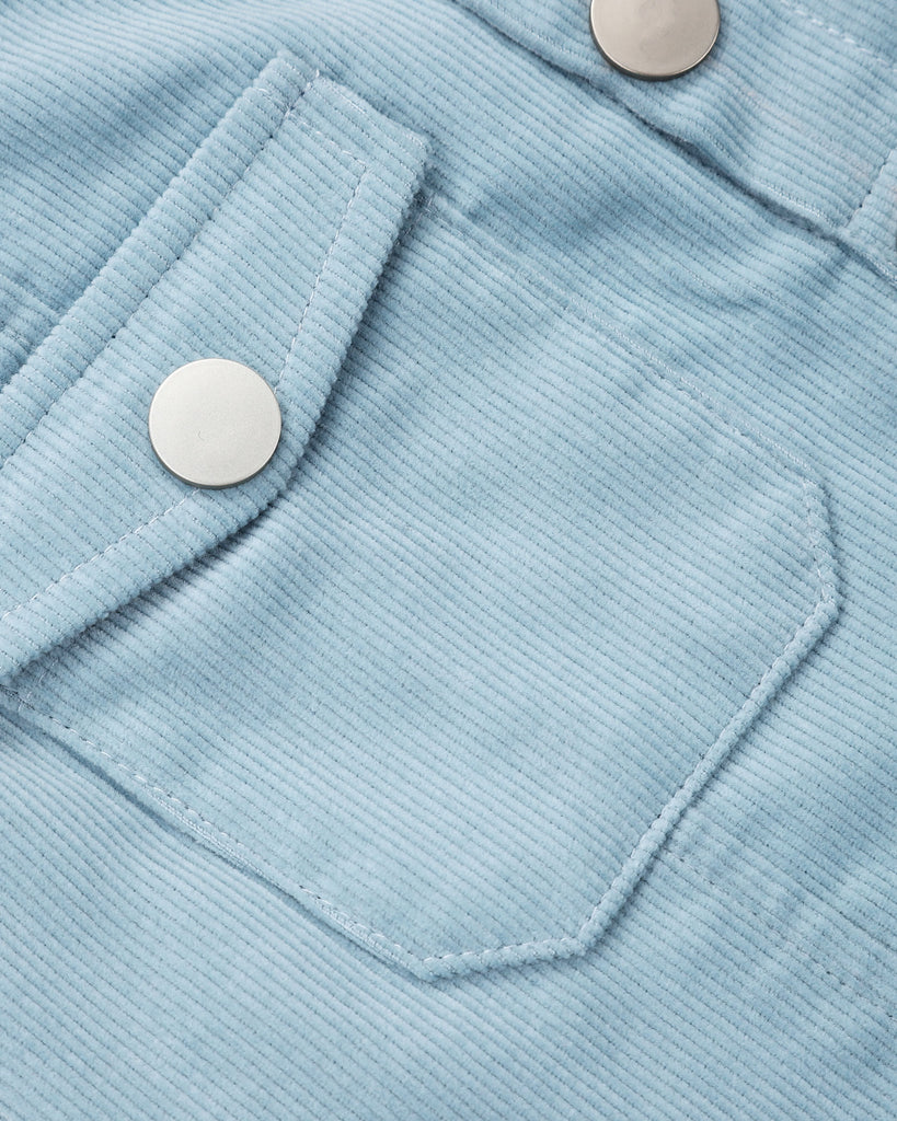 Sunset Cordury Skirt In Powder Blue Detail