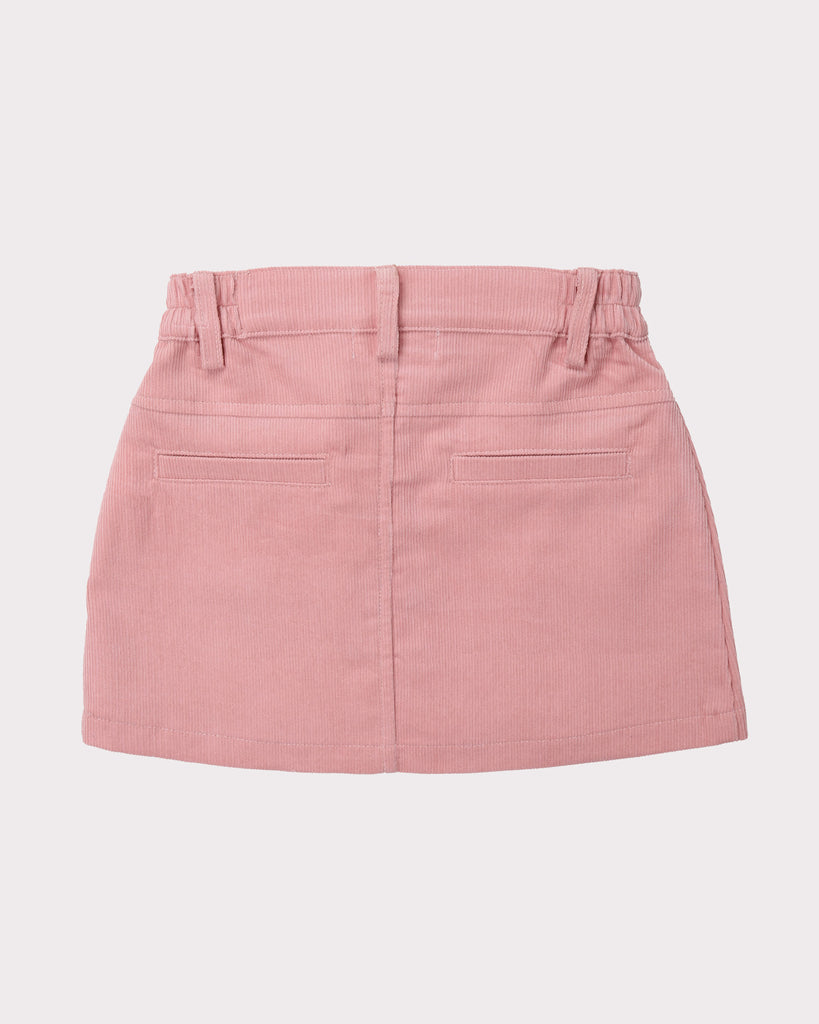 Sunset Cordury Skirt In Pink Back