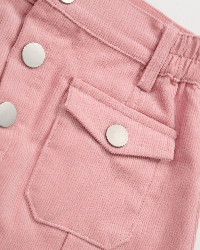 Sunset Cordury Skirt In Pink Detail