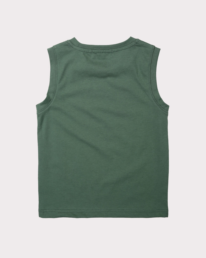 Leave The City Tank In Olive Back