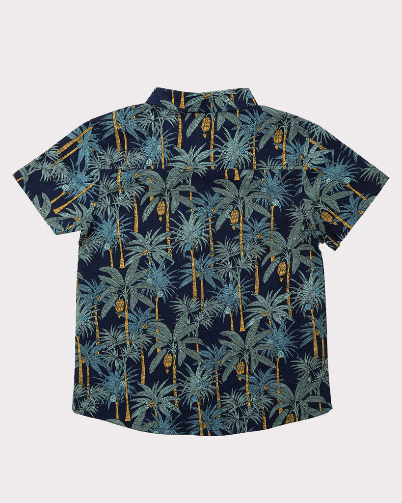 Into The Jungle Shirt In Navy Back