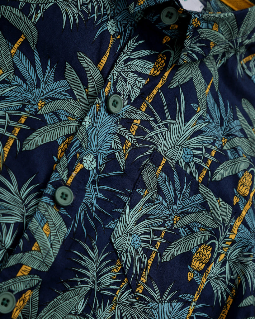 Into The Jungle Shirt In Navy Detail