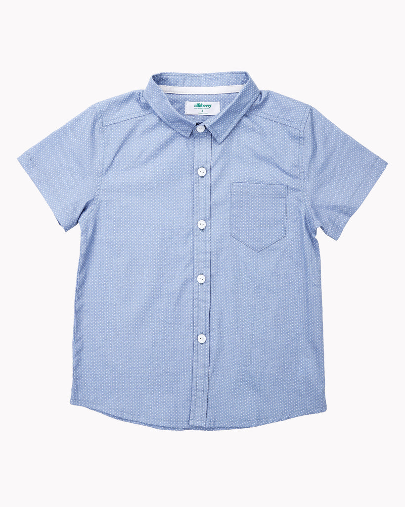 Pin Dot Shirt In Teal Front