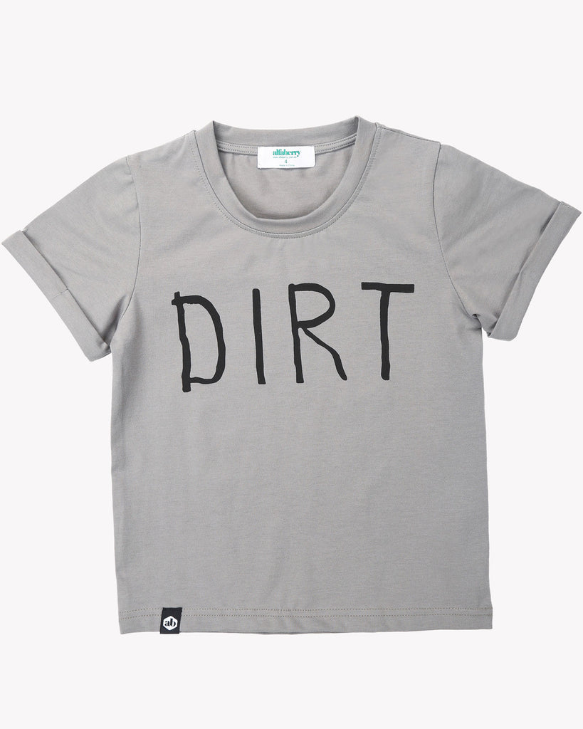 Dirt Tee In Steel Front