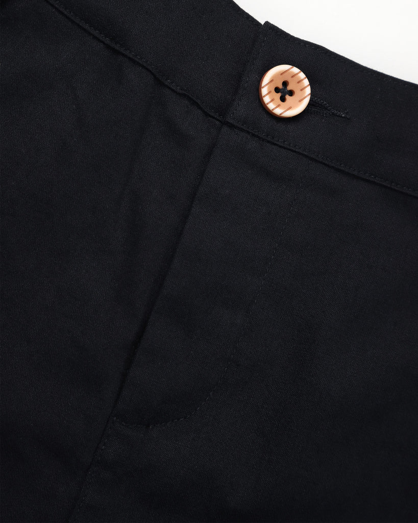 Here To Stay Chino In Black Detail