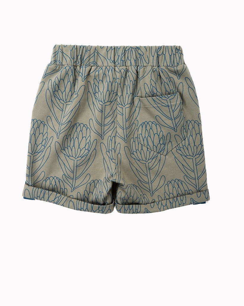 Waratah Cuff Short In Grey Back