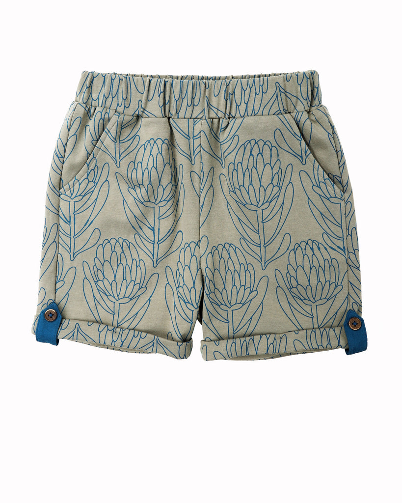 Waratah Cuff Short In Grey Front
