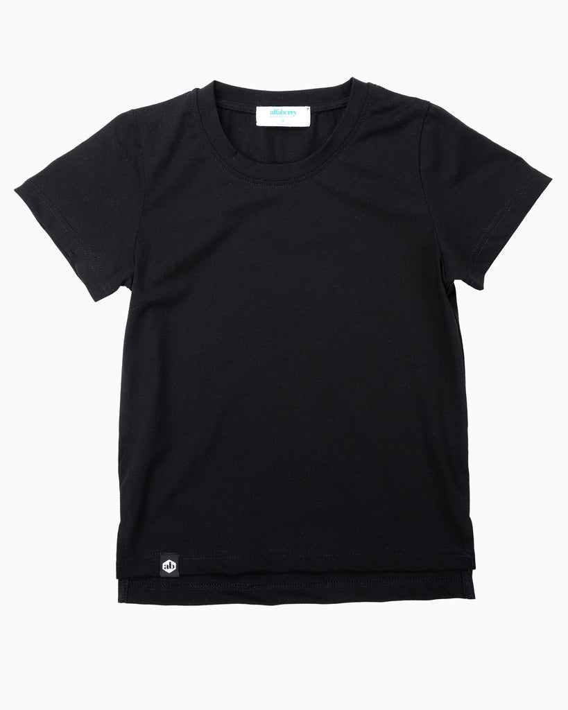 Buddy Tall Tee In Black Front