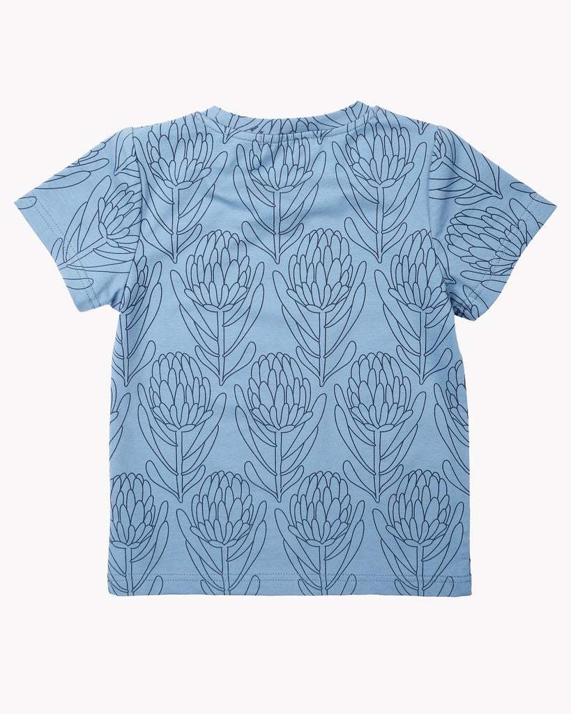 Waratah Tee In Blue Back