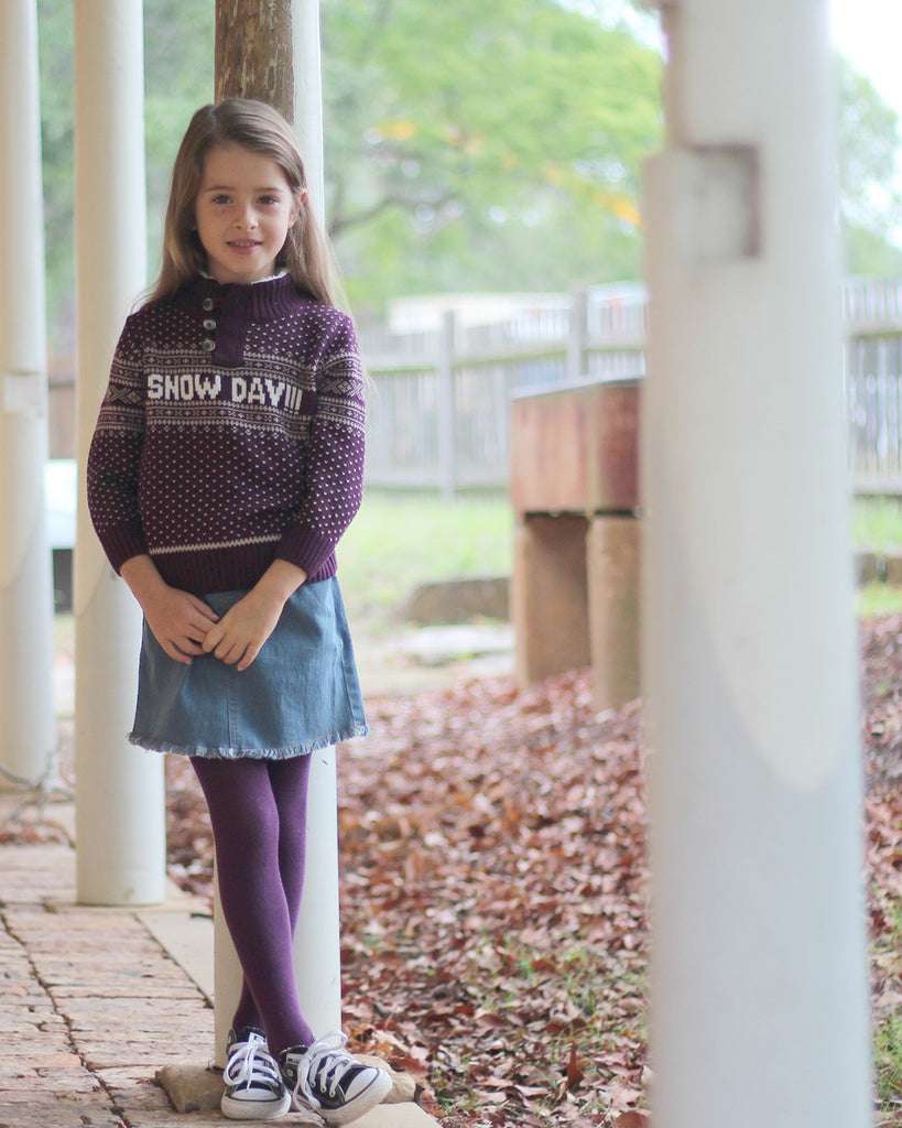 Snowday Jumper in Mulberry model