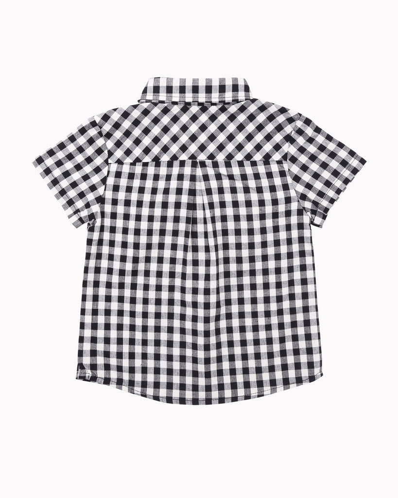 Gingham Shirt in Black Back