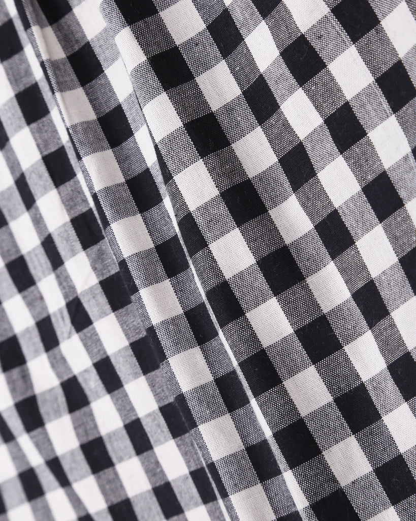 Gingham Shirt in Black Detail