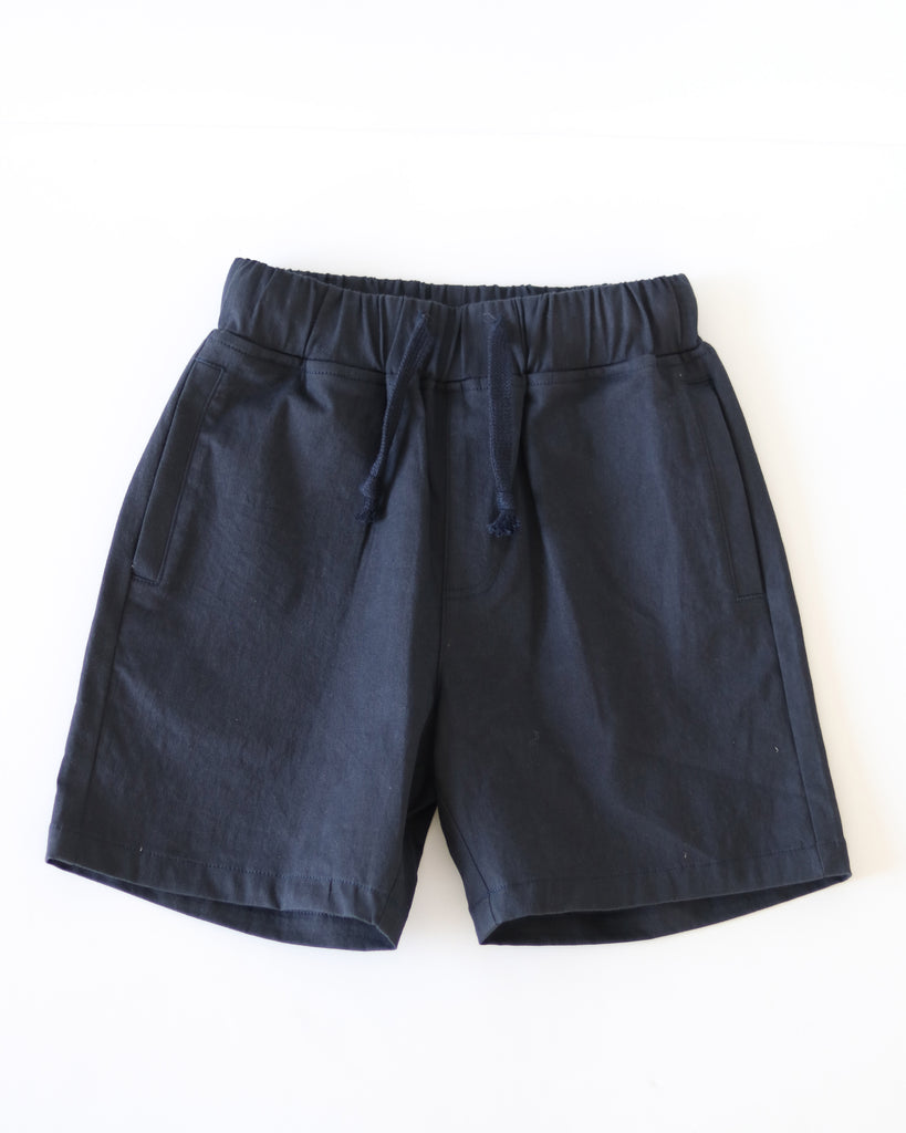 No Sweat Drawstring Short Navy