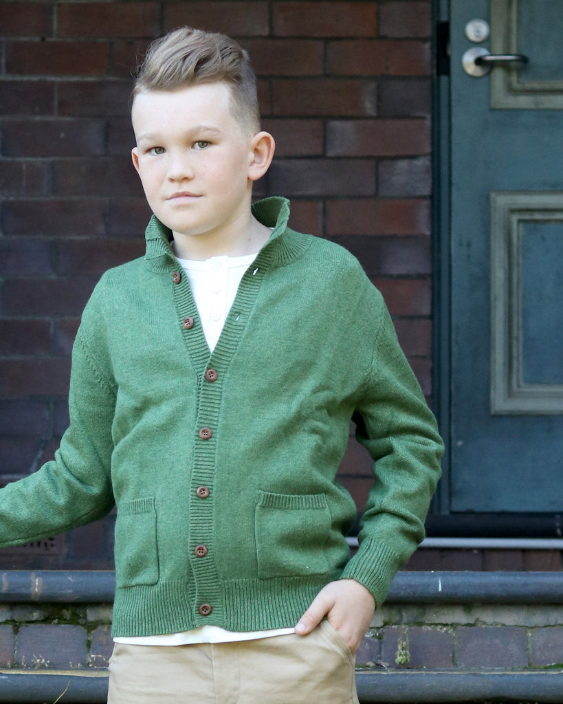 Adventure Cardigan in Olive Green