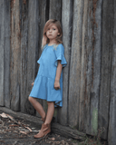 Bell Sleeve Chambray Dress