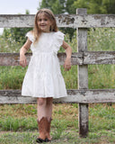 Belle Flutter Dress in Broderie