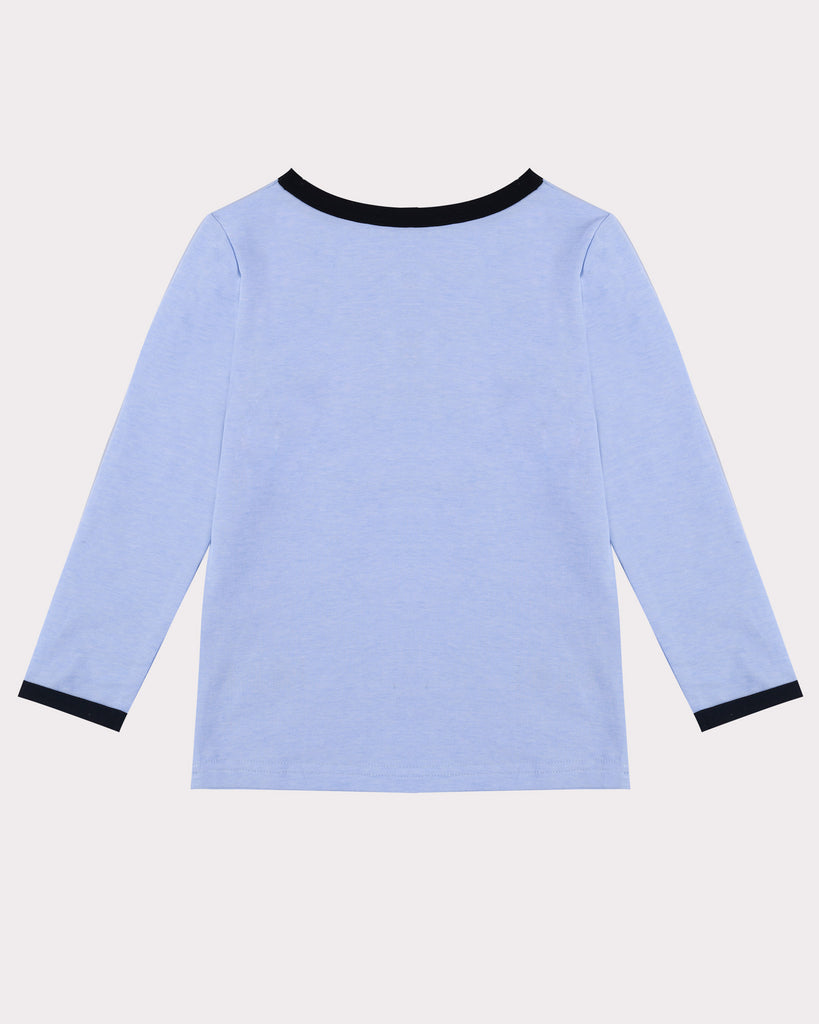 Band Leader Long Sleeve Tee Bondi Blue Back