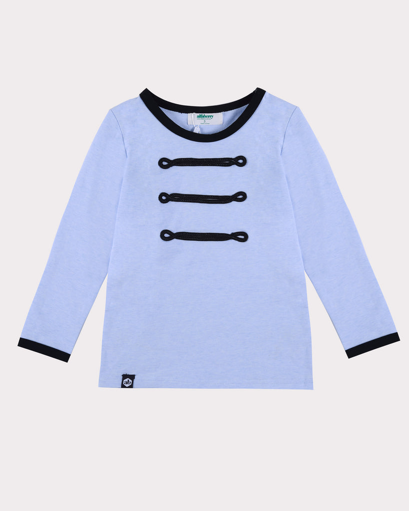 Band Leader Long Sleeve Tee Bondi Blue Front