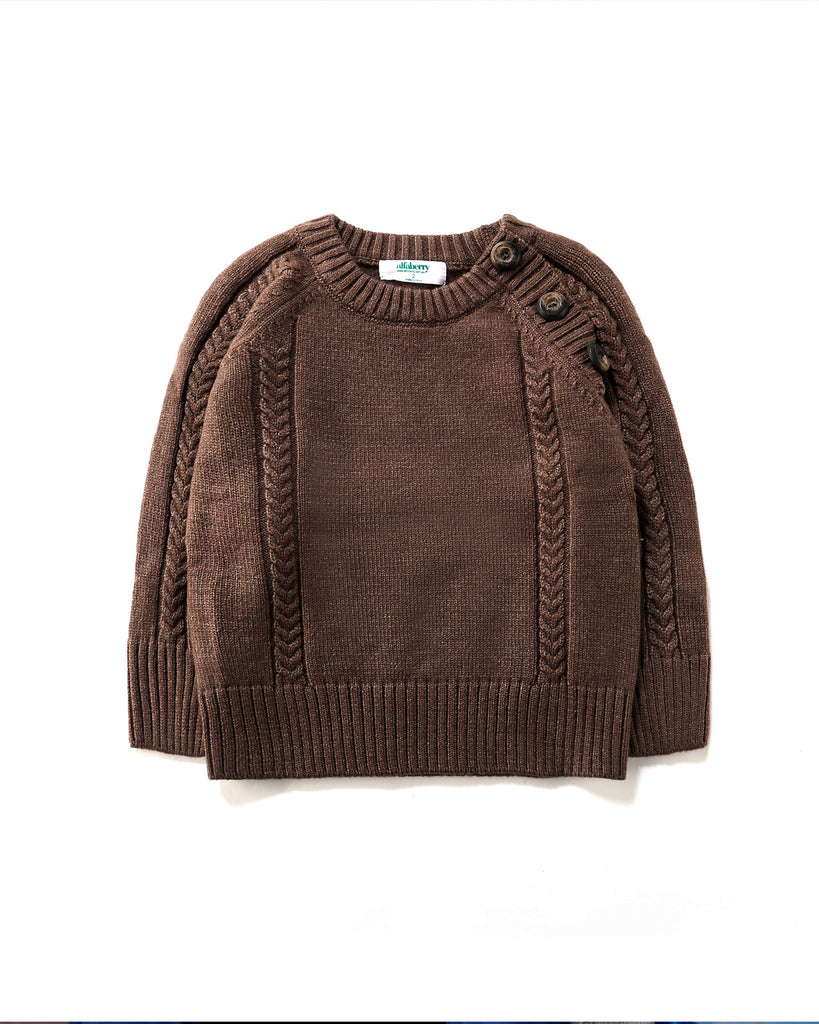 Button Up Jumper in Cinnamon
