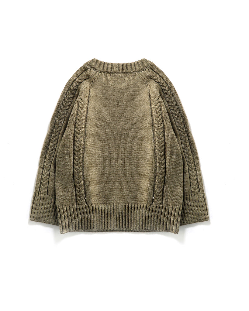 Button Up Jumper in Olive