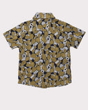Cactus Floral Shirt in Mustard back