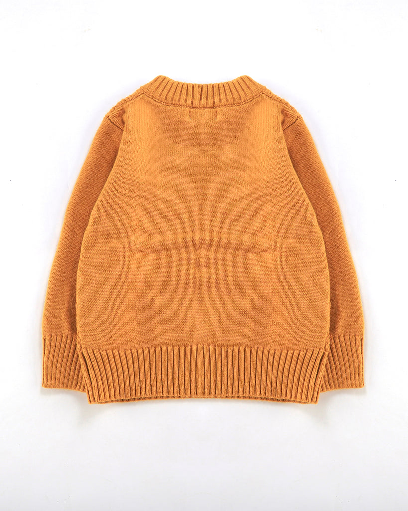 Chain Cable Jumper in Mustard Back