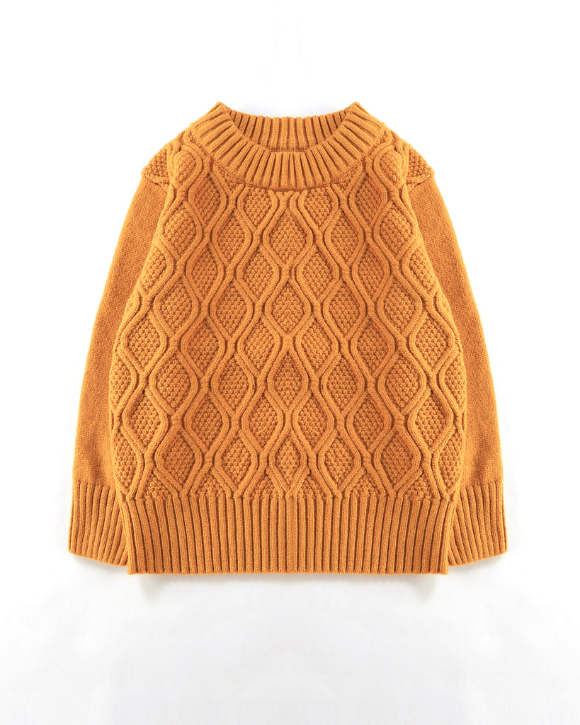 Chain Cable Jumper in Mustard Front