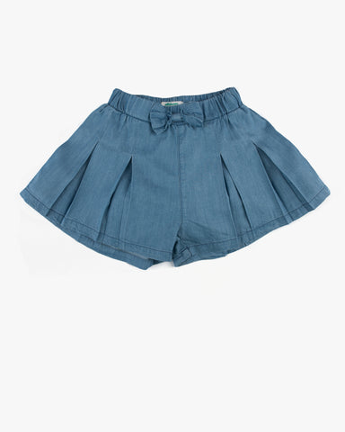 Denim Tulle Skirt