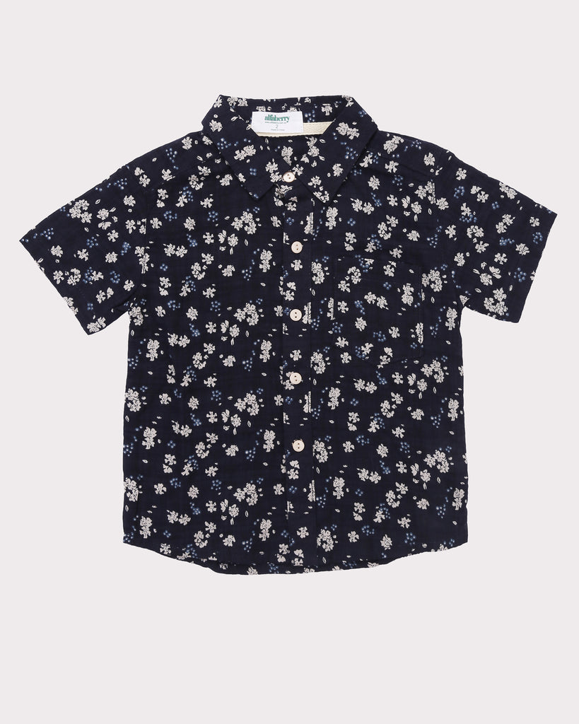 Clover Field Shirt in Navy front
