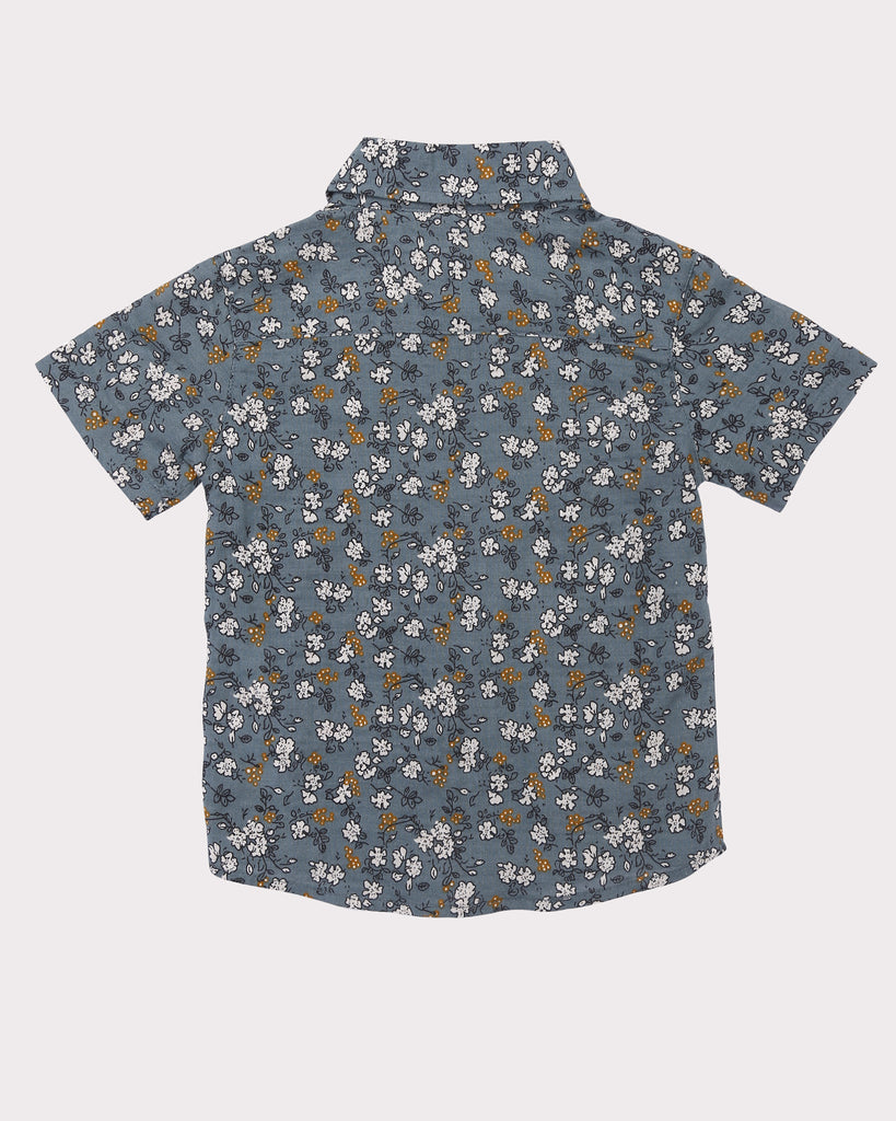 Clover Field Shirt in Teal back