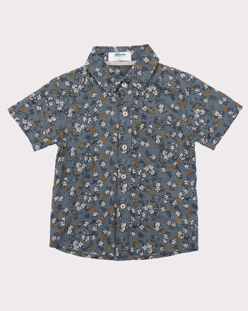 Clover Field Shirt in Teal front