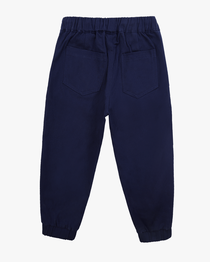 Cuffed Trousers Navy Back