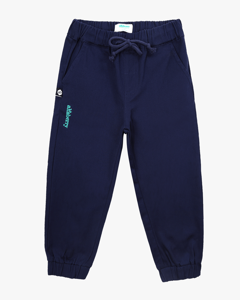 Cuffed Trousers Navy Front