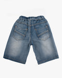 Denim Drawstring Short Back