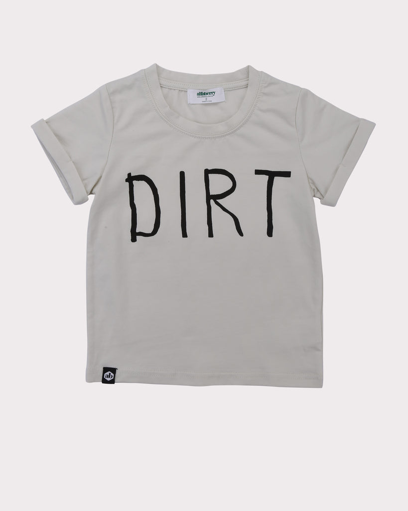 Dirt Tee in Chalk front
