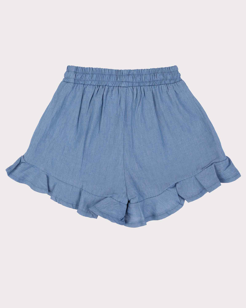 Frill Short in Chambray Back