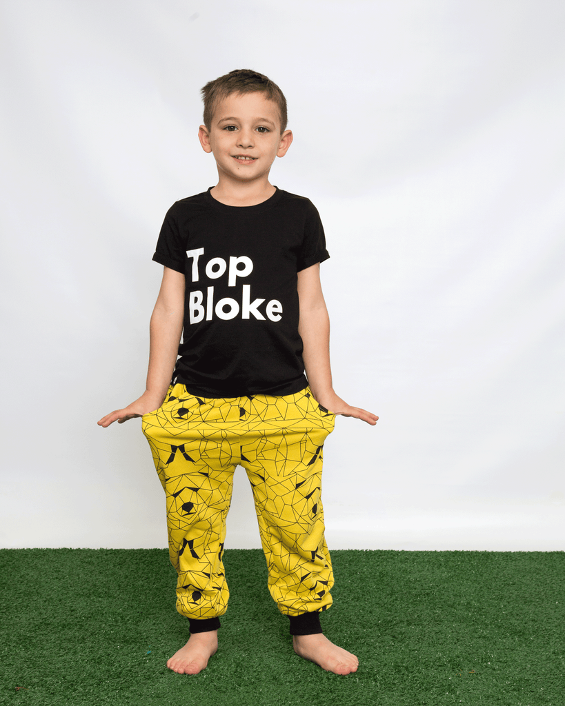 Geo Bear Cuffed Trouser on Model