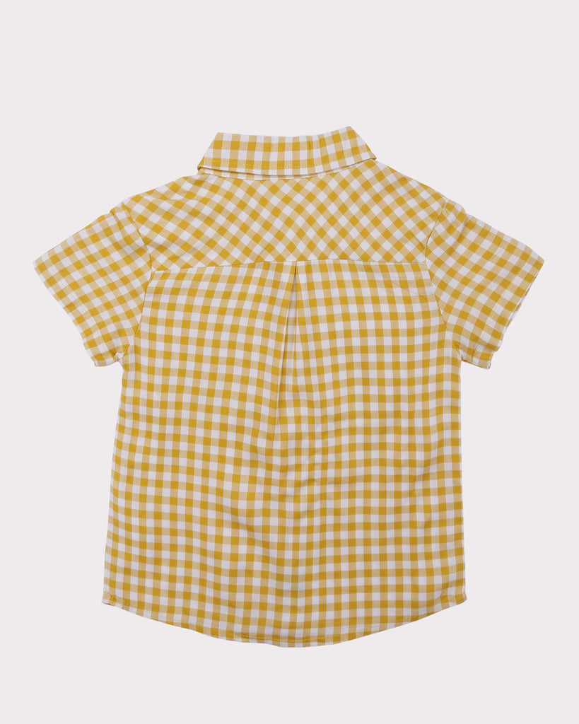 Gingham Shirt in Yellow back