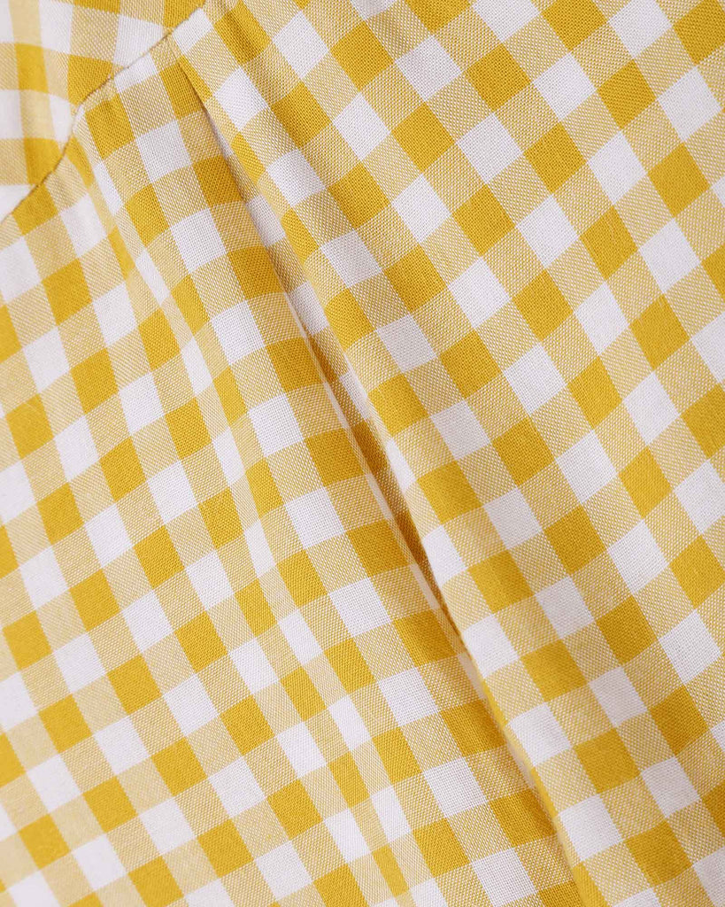 Gingham Shirt in Yellow detail