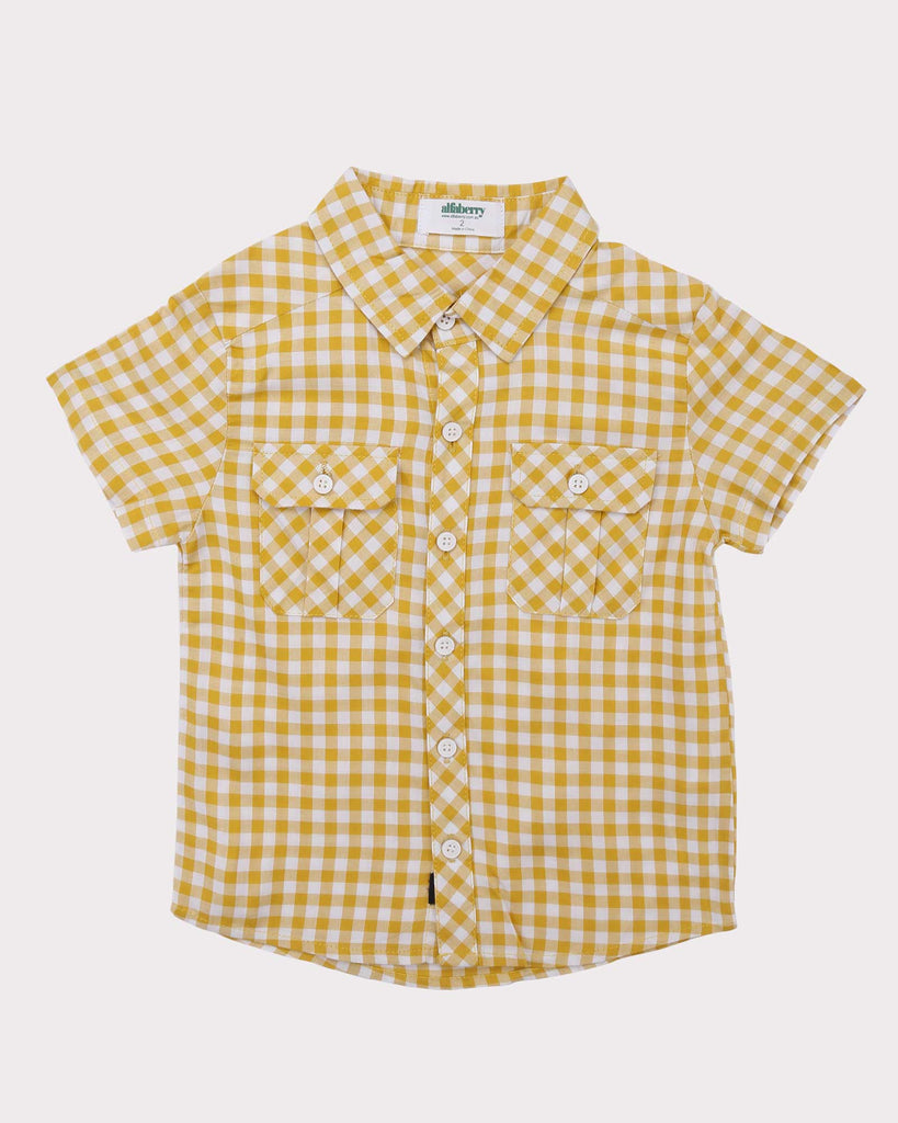Gingham Shirt in Yellow front