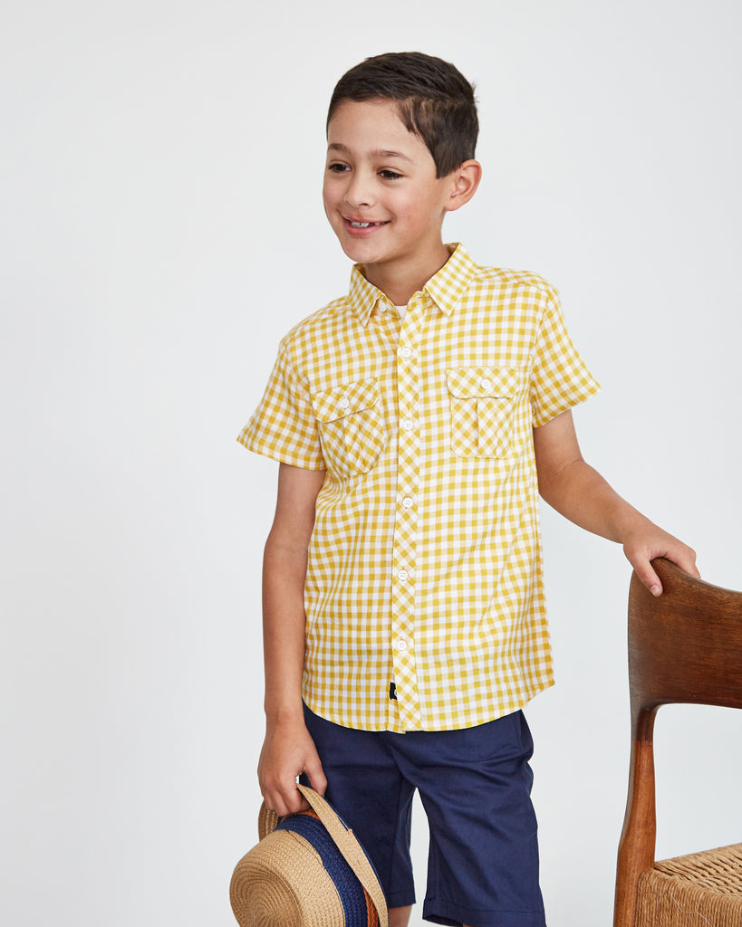 Gingham Shirt in Yellow